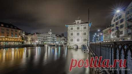 Zürich City & Limmat by Night / 500px