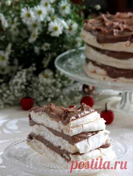"""Торт """" Безе с заварным кремом и шоколадом"""" - Сладкий мир — Живой Журнал"""