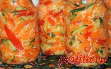 Вкусный овощной салат - ассорти на зиму. Съедается с удовольствием   Веселая кухарка   Яндекс Дзен