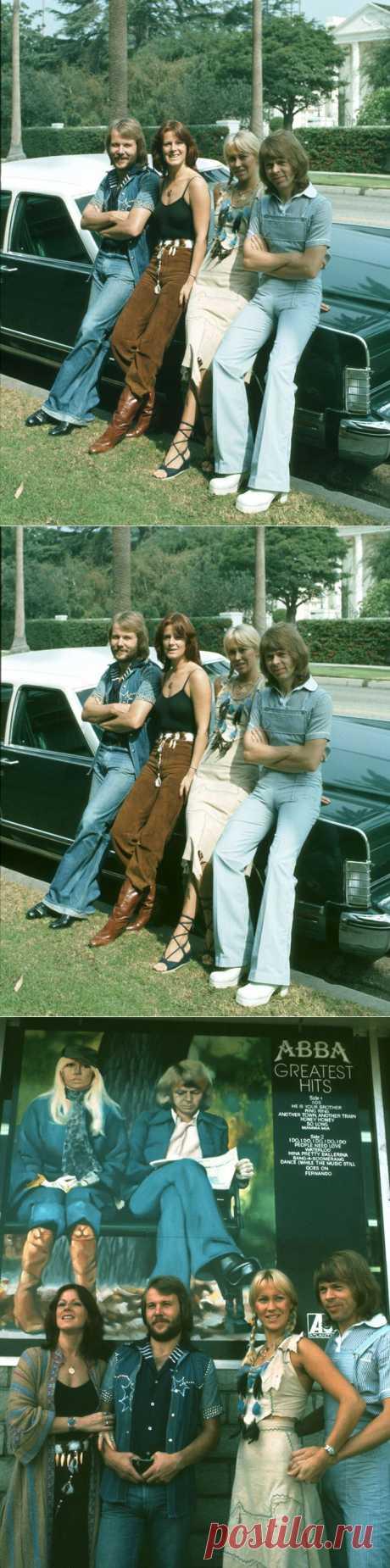 АББА (ABBA) – Фотосессия в Лос-Анджелесе (1976) | Starer - Фотосессии знаменитостей