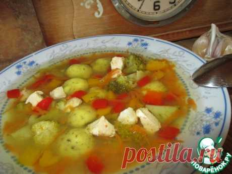 Суп с клёцками из кукурузной муки - кулинарный рецепт