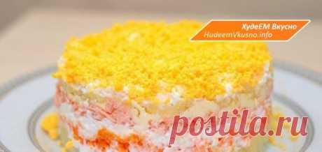 Салат «Мимоза» с тунцом — низкокалорийный вариант   Худеем Вкусно