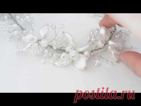 opaska ślubna DIY / wedding headpiece DIY