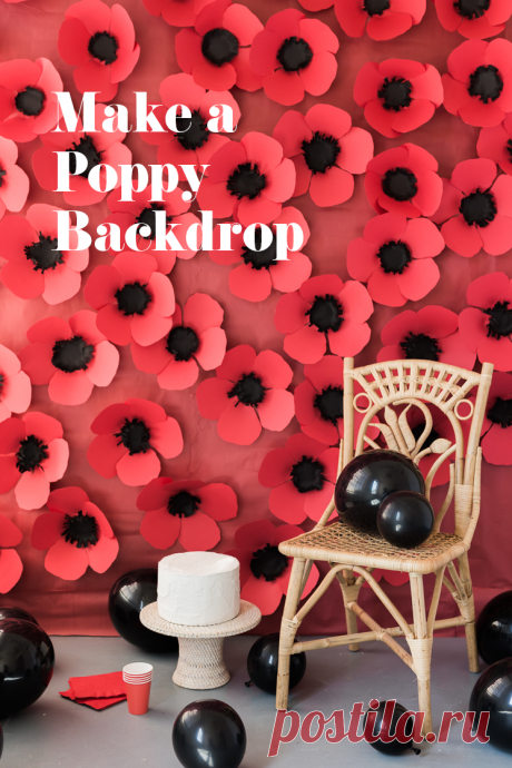 DIY Paper Poppy Backdrop - The House That Lars Built