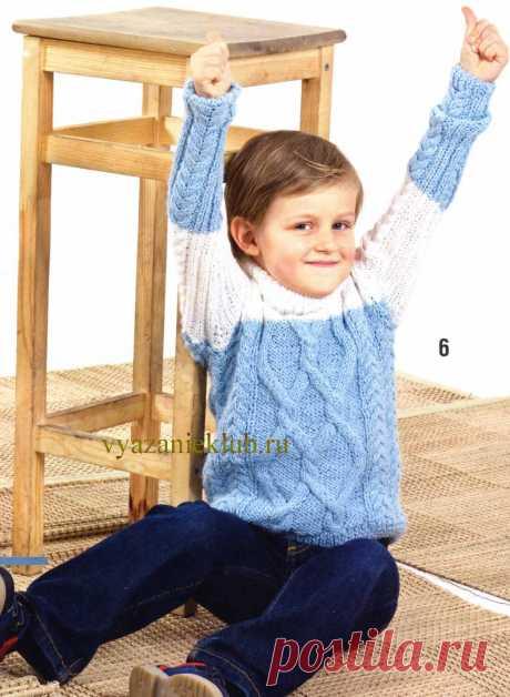 Свитер для мальчика 5-6 лет - Для мальчиков - Каталог файлов - Вязание для детей