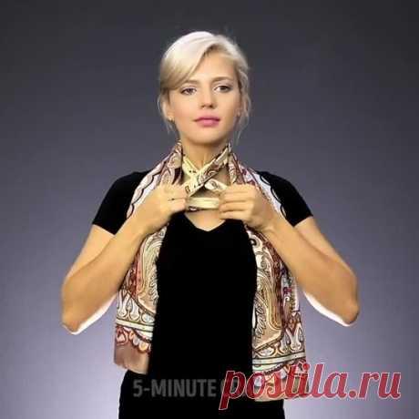 36 способов красиво носить платки и шарфики