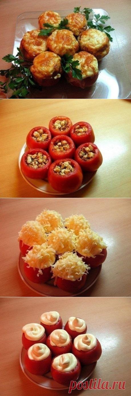 Как приготовить помидоры, фаршированные курицей. - рецепт, ингредиенты и фотографии