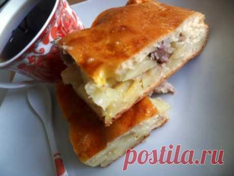 Пирог с картофелем и мясом (мамин рецепт) рецепт с фотографиями