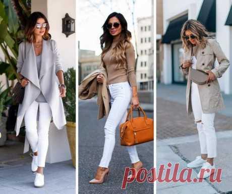 Белые джинсы: 15 прекрасных образов Лето ещё не наступило, но на улицах уже появляются прекрасные девушки в белых джинсах. Так происходит потому, что подобная одежда может ассоциироваться только с тёплым временем года. Несомненно, и в 2019-ом белые джинсы займут почётное место среди необходимых и модных вещей в гардеробе каждой женщины.