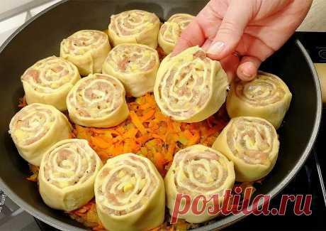 ПОТРЯСАЮЩИЙ Обед из Простых Продуктов Потрясающее ГОРЯЧЕЕ БЛЮДО для всей семьи:) Особенно вкусно со сметаной:)