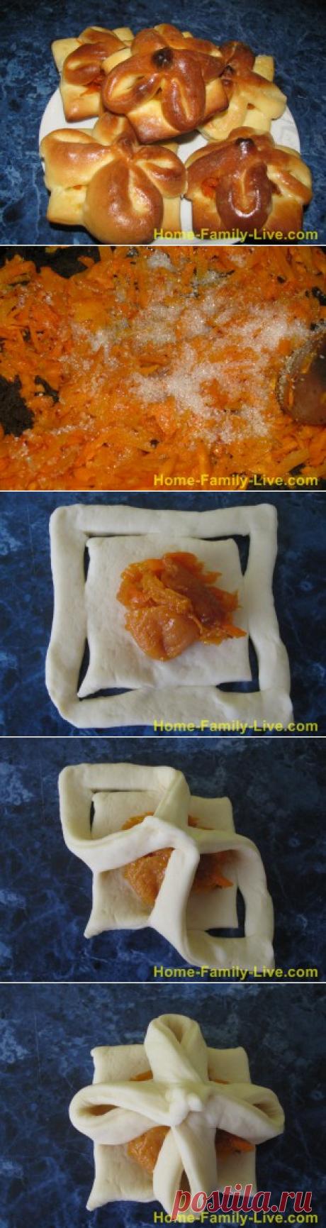 Булочки с курагой/Сайт с пошаговыми рецептами с фото для тех кто любит готовить