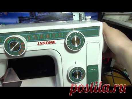 Ремешок пришить швейной машиной Janome L-394