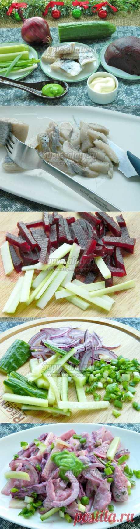 Новогодний салат «Селедка без шубы». Рецепт с пошаговыми фото