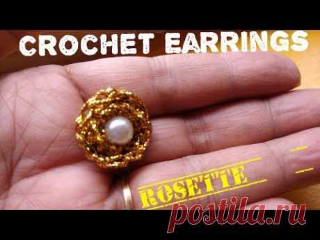 🌹 Crochet Earrings 🌹 Rosette Earrings🌹 (0058)