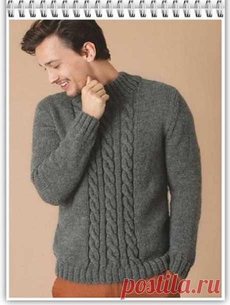 Галкин Дневник: Простой мужской пуловер спицами