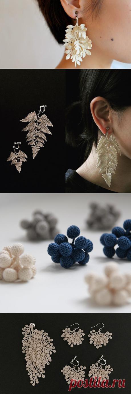 На крючке у природы: лаконичные украшения Miho Fujita | Журнал Ярмарки Мастеров