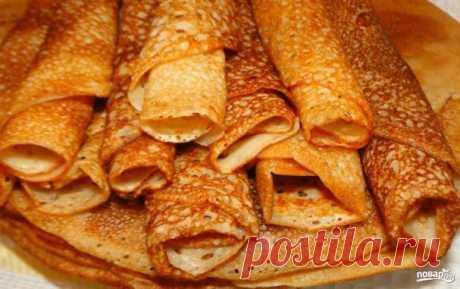 Тонкие блины на сыворотке - пошаговый рецепт с фото на Повар.ру