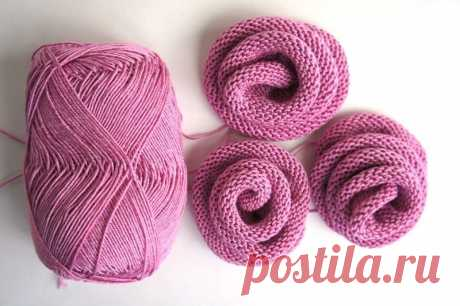 Цветок для украшения спицами. | knitt.net | Все о вязании
