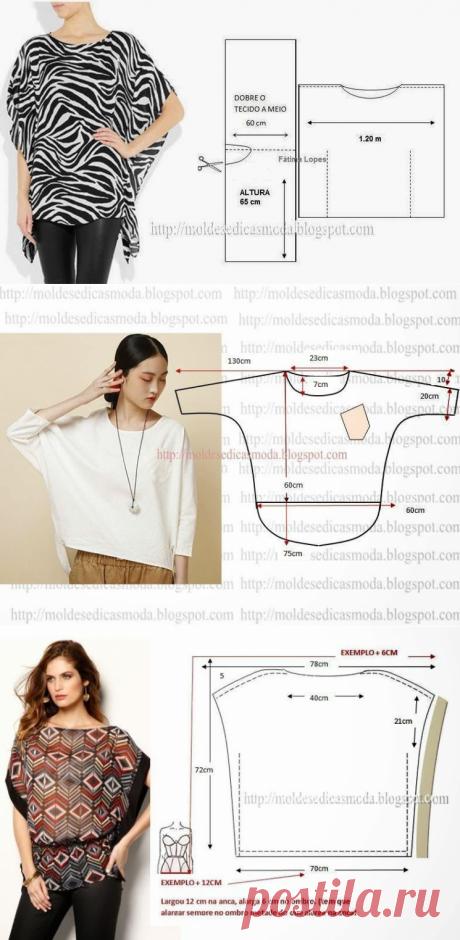 Шьем туники. Выкройки (Шитье и крой) | Журнал Вдохновение Рукодельницы