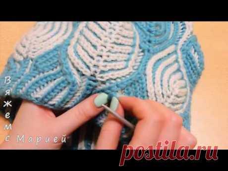 Как избавиться от дырочки при вязании прибавок в техника Бриошь. - YouTube