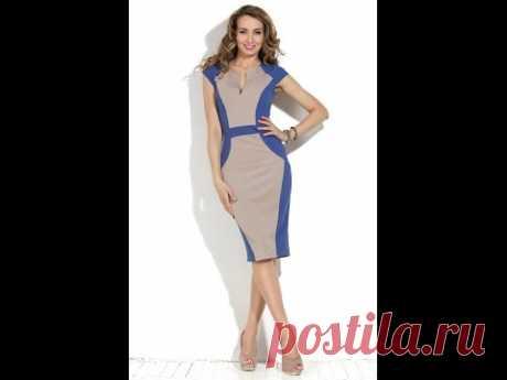 Комбинированное платье..  Моделируем.