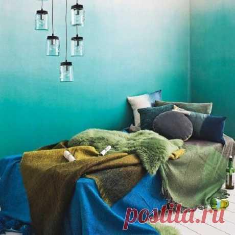 Необычный способ покраски стен | Роскошь и уют