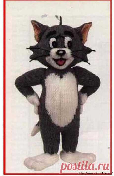 вязаный кот Том