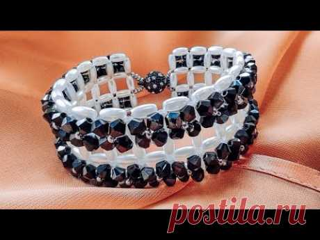 Браслет НЕВЕСОМОСТЬ из Бусин и Бисера Мастер Класс/ Beaded Bracelet Master Class