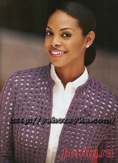 Жакет MulberryGrid - схема вязания + фото и описание Схема вязания спицами жакета MulberryGrid - вязание для домохоязек.