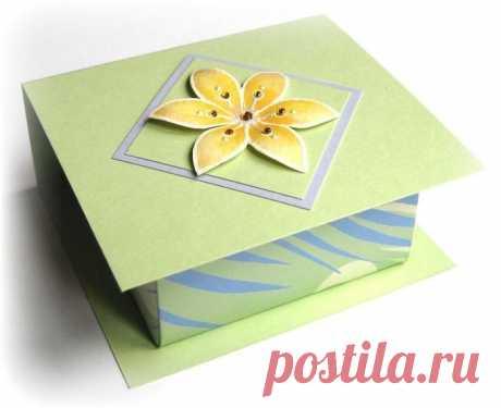 Коробочка-оригами и оригинальное оформление