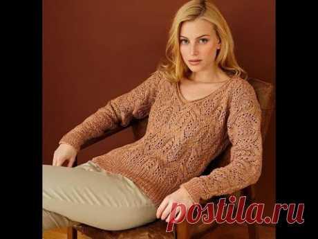 Модный пуловер в роскошном рыжем цвете