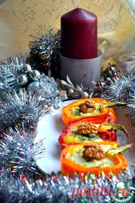 The pepper baked with cheese - the culinary recipe