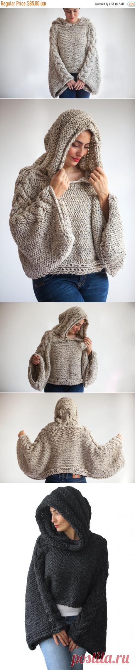 WINTER SALE 20% Tweed Beige Angel Sweater Capalet with от afra