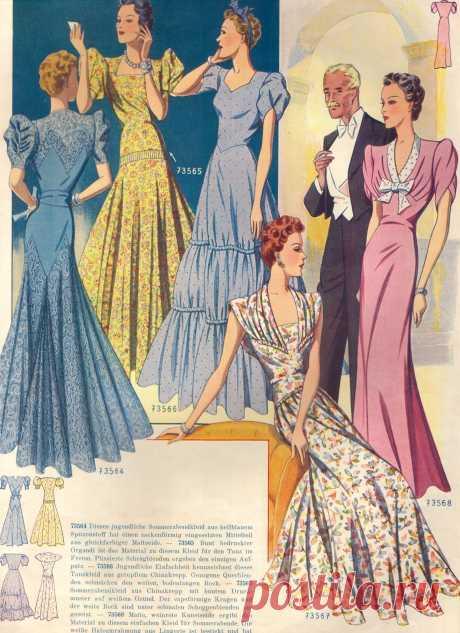 Длинные нарядные женские платья