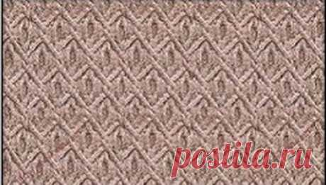 """Интересные рельефные узоры спицами с описанием и схемами   Рельефный узор спицами """"Кедровые шишки""""   Если вы собираетесь вязать свитер или пуловер для мужчины, обратите внимание на этот узор.Такой узор спицами, хорошо смотрится при вязании мужской одежды.Р…"""