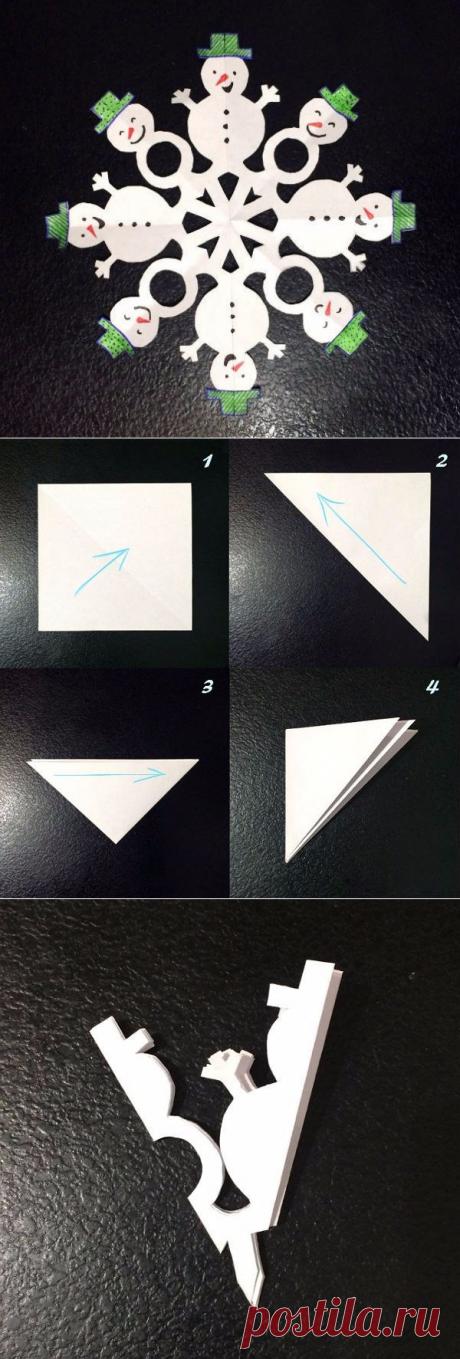 Необычные снежинки из бумаги