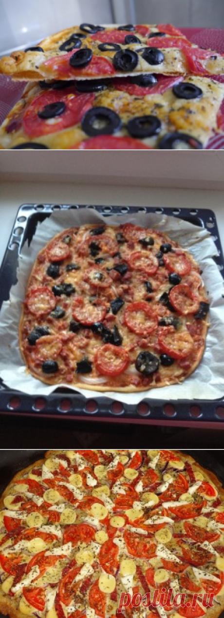 Тонкая хрустящая пицца без проблем и затрат.