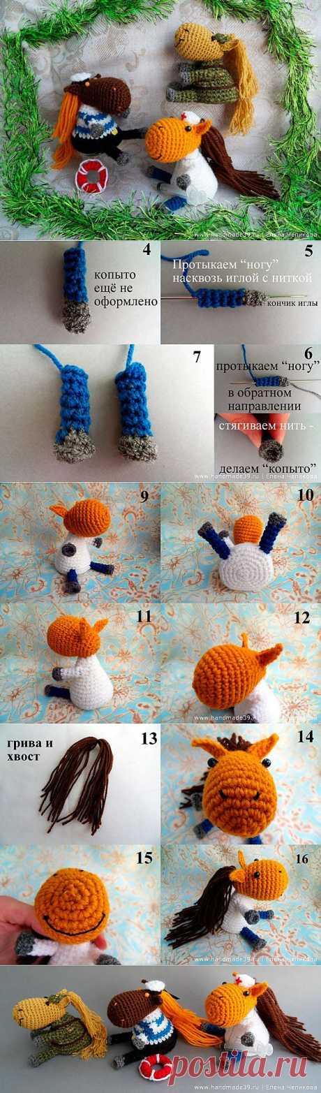 Лошадиная профессия | Вязаные игрушки | HandMade39.ru – More фантазии!