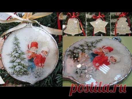 CHRISTMAS TREE Decoration Decoupage Ideas DIY ντεκουπαζ - YouTube