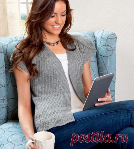Вязание спицами по кругу кофточки для женщин