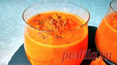 Морковное смузи с яблоком и апельсином