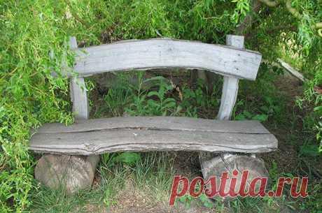 Скамейки в саду: из чего сделать и как расположить? — 6 соток