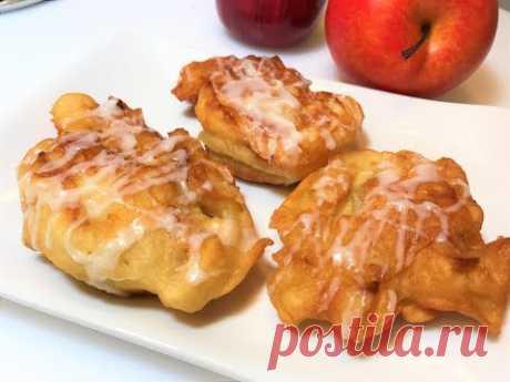 ОЛАДЬИ С ЯБЛОКАМИ.  Как готовят ВКУСНЯШКУ американские женщины. Быстрый Завтрак. Apple Fritters.