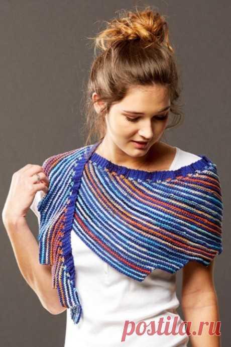 Шаль фишю спицами Serrato, Вязание для женщин