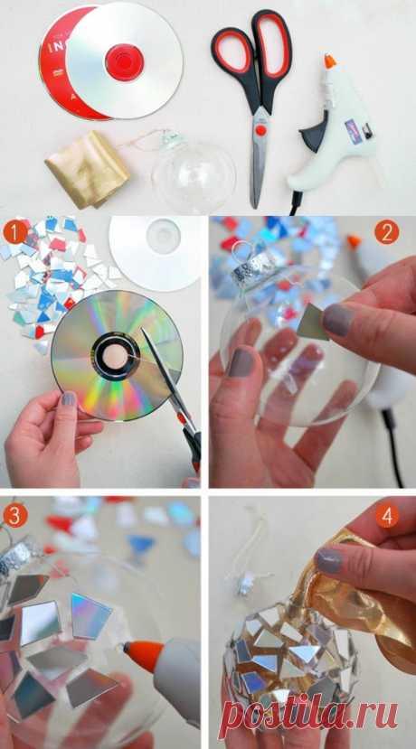 Поделки из СД-дисков своими руками, 7 идей