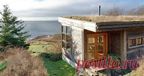 Деревенский домик с дерновой крышей скрывает фешенебельный интерьер ...