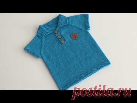 Polo Yaka Erkek Bebek Yazlık Kazak Yapımı