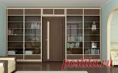 Шкафы вокруг двери - преимущества и идеи