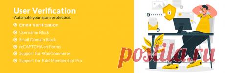 User Verification - Проверка пользователя RU - LINKOZ.RU Защитите свой сайт от спам-пользователя и прекратите мгновенный доступ с помощью спам-адреса электронной почты, с помощью этого плагина пользователю необходимо будет проверить свою электронную почту перед войном на ваш сайт.