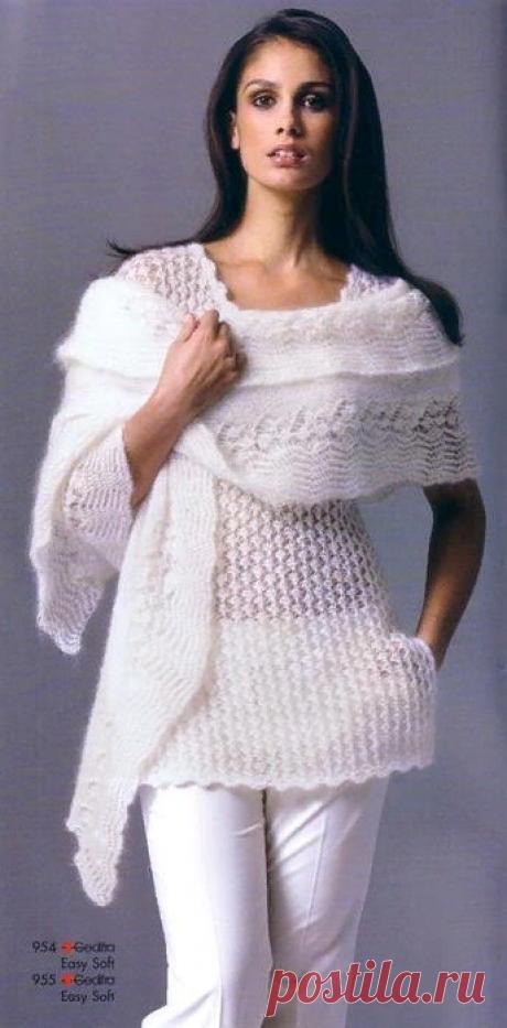 Из мохера спицами. 12 чудесных кофточек и пуловеров из мохера | Волшебные спицы | Яндекс Дзен
